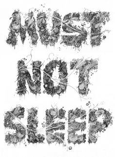 Typography by Samuel Cox, via Behance