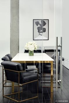 Tour the Glam Offices of Vita Fede, Designed by Aimee Song via @MyDomaine