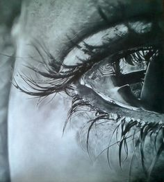 Eye study - art by MaryAlice Graphite on paper 40x45 cm