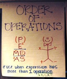 Order of Operations from Mrs. Delaney at Orion