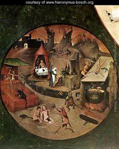 The Seven Deadly Sins (detail 1) c. 1480 - Hieronymous Bosch - www.hieronymus-bosch.org
