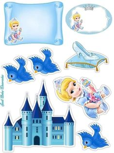 Cinderella Birthday, Cinderella Disney, Batman Cake Topper, Minnie Mouse Images, Princess Cake Toppers, Disney Cars Party, Unicorn Crafts, Baby Princess, Baby Art