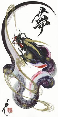 紫、マゼンタ、朱, Purple, magenta, vermilion dragon