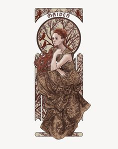 In the Faith of the Seven, the Maiden represents chastity, beauty, and virtue. The Faith was brought to Westeros by the Andals, who invaded almost 6,000 years ago. The Maiden is usually prayed to by unwed girls, asking for her guidance, help in finding a husband, or to help protect their virtue. By Elvishness, Sansa Stark as the Maiden.