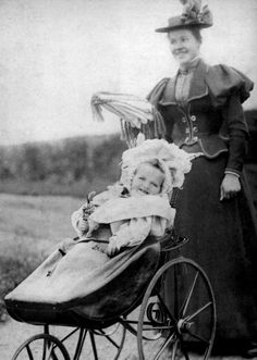 1895-1900~ Olga as a baby with Miss Eagar, her nanny. Margaretta Eagar eventually would write on life with the Imperial Family in her book, Six Years At The Russian Court.