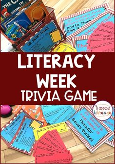 Literacy Week is the perfect time for some Dr. Seuss Activities for upper elementary students. This print and go trivia game is engaging and exciting! Low prep fun for your elementary library or classroom - Grab it now and let the fun begin! #thetrappedlibrarian Elementary School Library, Upper Elementary, Elementary Schools, Library Events, Library Skills, Let The Fun Begin, School Community, Trivia Games, Reading Strategies