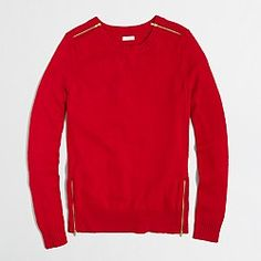 Factory warmspun zip sweater  || J Crew Factory