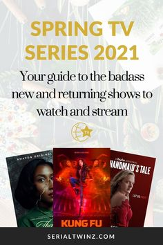 Hey Serial Fans and welcome to the Spring TV Series 2021: Your Guide To The Badass New And Returning Shows. In this guide, we are recommending you the best TV series to watch and stream this Spring. And in the Spring TV series 2021 guide, we have selected only the best badass new and returning shows premiering or released in April 2021. We selected fantasy, comedy, drama. action, dramedy, and more series. #TVSeries #TVShows #BestTVShows #ShowsToWatch Drama Tv Shows, Drama Tv Series, Tv Series To Watch, Book Series, Jessalyn Gilsig, Laura Donnelly, Famous In Love, New Comedies, New Fantasy