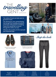 ~ The travelling gent ~ Hit the road in style by @henryascoli  #locallife #Farnham #Surrey #style #men #fashion #traveller #gent #blue
