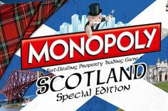 Scottish special edition of Monopoly allows players to snap up historic landmarks--A NEW version of the game lets players buy hotels at Loch Ness and Balmoral Castle and includes famous names such as Alex Salmond, Andy Murray and JK Rowling. Glasgow, Edinburgh, Scottish Culture, Famous Names, Andy Murray, Thing 1, Family Game Night, My Heritage, Scotland Travel