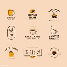 Junk Food Date - Food Fotography Cake - Food Fotography Burger - - Food Drawing Anime Coffee Shop Branding, Coffee Shop Logo, Food Logo Design, Logo Food, Coffee Shop Names, Cafe Logo, Graphic Design Inspiration, Badge, Stamp
