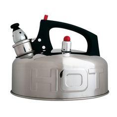 Bouilloire sifflante en acier Hot Kettle - 19 x 15 cm Bauhaus Design, Shops, Stainless Steel Polish, Elements Of Design, Kitchen Utensils, Kitchen Gadgets, Modern Lighting, Kitchens, Home Decor Accessories