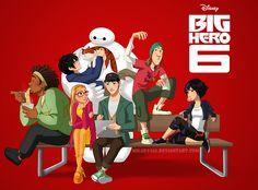 Big Hero 6 (look at how Honey Lemon is looking at Tadashi... >\\\\< )