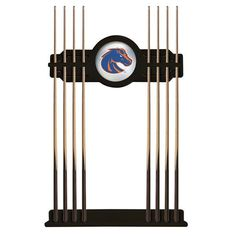 Boise State Broncos Eight Stick Pool Cue Rack - Black - $199.99