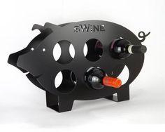 Pig Wine Rack - Un cerdito muy vinícola.
