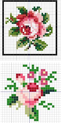 розы маленькая схема