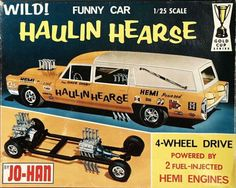 Jo-Han - Haulin hearse funny car kit