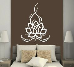 Items on Etsy that resemble Wall Decals Yoga Lotus Indian Buddha Decal Vinyl Decal Home Decor Bedroom Interior Design Art Mural - Wall decals Yoga Lotus Indian Buddha Decal Vinyl Sticker Home Decor bedroom interior Art Mural Dear -