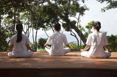 Morning #Yoga at Six Senses Spa.