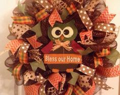Gather Together-Give Thanks-Eat Pie! Greet your guests this holiday season with this festive wreath! Measures approximately 24x24. Limited quantities available. Please remember some small details may vary as each wreath is recreated after original is sold. Please feel free to ask any questions. Thanks for looking