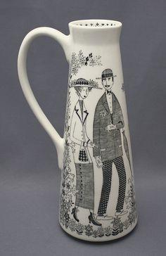 Raija Uosikkinen - Sök på Google Uppsala, Scandinavian Living, Helsinki, Finland, Pottery, Vase, Ceramics, Mugs, Black And White