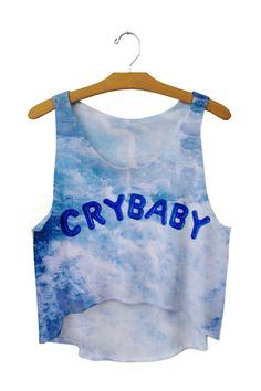 CryBaby Full Print Crop Top - Freshtops Marketplace