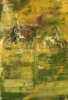 Kehnet Nielsen (Danish, b. 1947), Memoires I-IV, No. I, 1995. Oil on canvas, 146 x 100 cm.