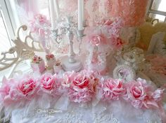Princess Cindy Reserve Shabby Chic Rose by Oliviasromantichome, $80.00