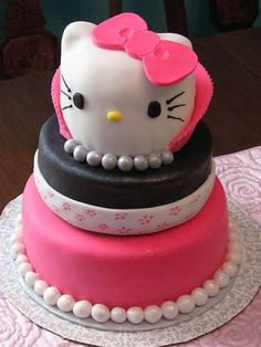 Cake: Bridal Shower Hello Kitty Cake « The Flamingo's Palette – Custom Cake Designs, Murals, Window Paintings, and More