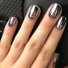 mirrored nails I must have this!!!