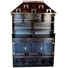 Ebonized Aesthetic Period Display Cabinet | From a unique collection of antique and modern cabinets at http://www.1stdibs.com/furniture/storage-case-pieces/cabinets/