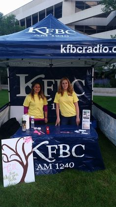Pop Up Tent for KFBC Radio. PromotionalDesignGroup.com
