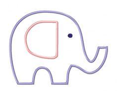 Baby Elephant Applique Image