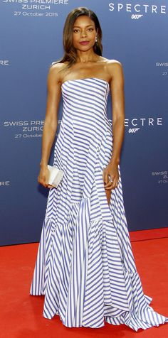 Naomie Harris was effortlessly chic at the Zurich premiere of Spectre in a Ralph Lauren Collection gown
