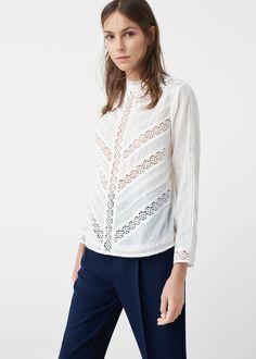 Blonda panel blouse - Shirts for Woman | MANGO Finland