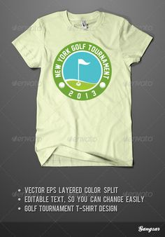 Golf Tournament Tshirt Design — Vector EPS #vector #t-shirt • Available here → https://graphicriver.net/item/golf-tournament-tshirt-design/4711130?ref=pxcr