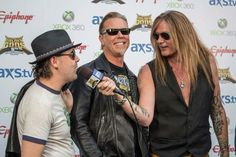 Lars Ulrich & James Hetfield (Metallica) and Sebastian Bach (Skid Row)