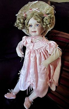 "Vintage Linda Murray Signed Abbie Porcelain Doll Paradise Galleries 20"" BEAUTY"