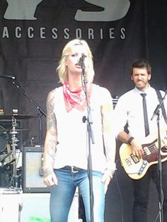 Gin Wigmore at Vans warped tour 2013. Columbia, MD