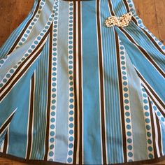 Boden Skirt Cotton cute classic fun size 10 lined 23 in long great condition Borden Skirts Midi