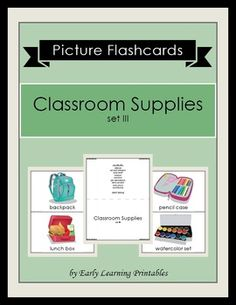 Click here to download your Classroom Supplies (set III) Picture Flashcards: $2.85