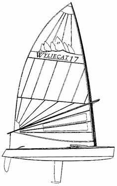 Wyliecat 17 drawing on sailboatdata.com