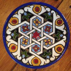 Quismondo Toledo Pottery Plate Vintage Majolica Maiolica Hand Painted