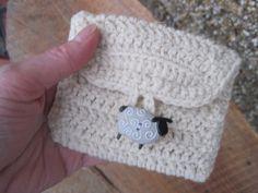 crochet change purse free pattern | It's a little 'woollie' crochet coin purse made from a simple pattern ...