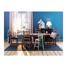 Extendable table!!! STORNÄS Extendable table IKEA Extendable dining table with 1 extra leaf seats 4-6; makes it possible to adjust the table size according to n...