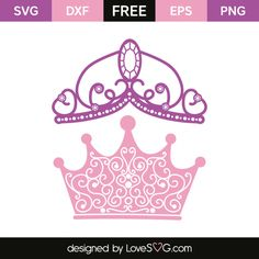 *** FREE SVG CUT FILE for Cricut, Silhouette and more *** Princess Crowns