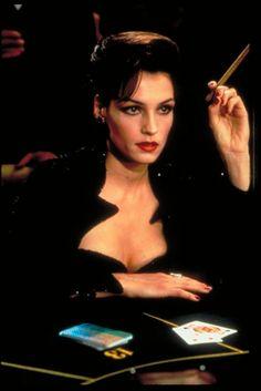 James Bond villain Famke Janssen as Xenia Onatopp from Goldeneye Best Bond Girls, James Bond Girls, James Bond Movies, Famke Janssen, Joss Stone, Female Villains, Female Characters, Xenia Onatopp, Female Bond