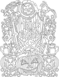 halloween coloring page - Halloween Coloring Pages For Adults