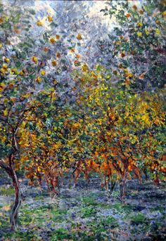 Claude Monet - The Lemon Grove in Bordighera at Ny Carlsberg Glyptotek Copenhagen by mbell1975, via Flickr