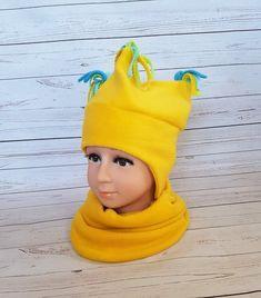 Cappello con nappe e scialle cappello caldo cappello giallo cappello Loop cappello  sciarpa in pile cotone 29934c82c193